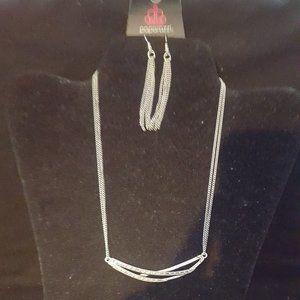 Paparazzi Silver Necklace Set